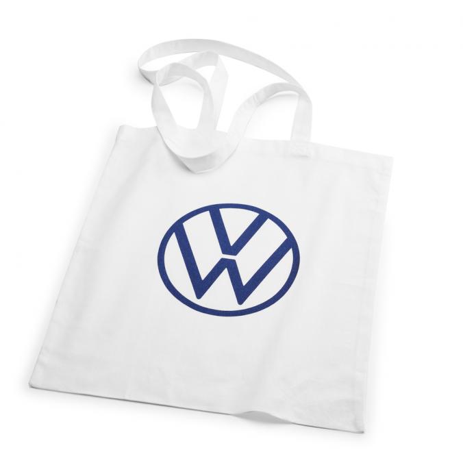Torba na zakupy, biała nowe logo VW