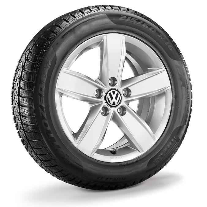 """Koło zimowe Passat B8 16"""" lewe z oponą Pirelli"""