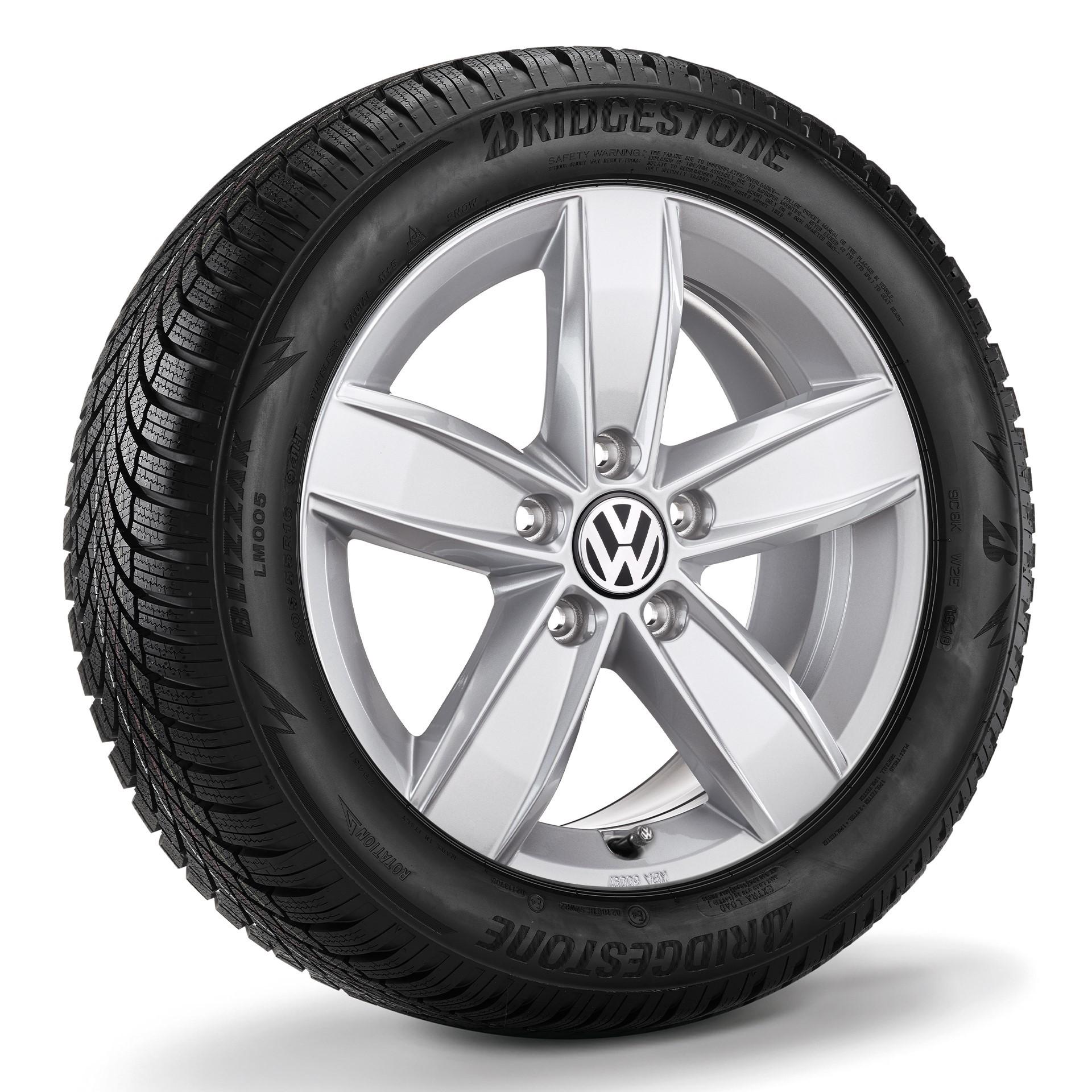 """Koło zimowe Golf 7 /Golf 7 Variant/Golf Sportsvan 16"""" z oponą Bridgestone, prawe"""