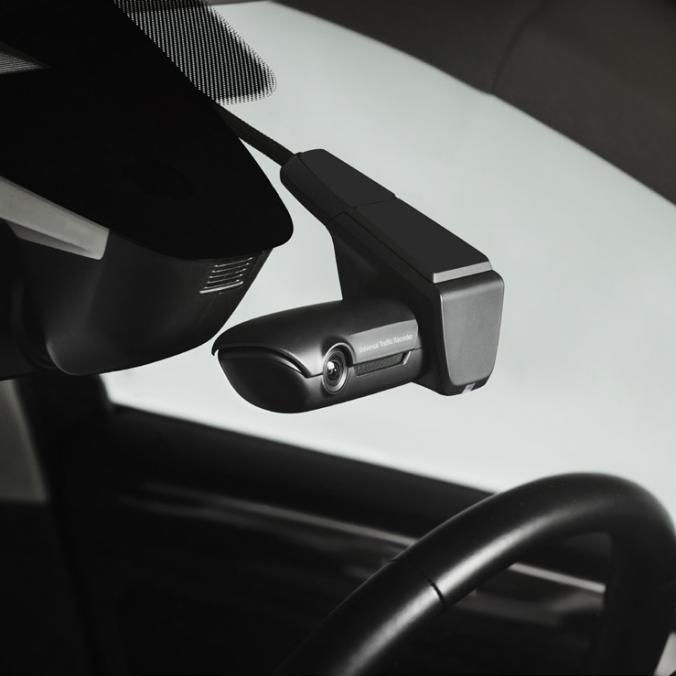 Rejestrator jazdy - zestaw rozszerzony, dwie kamery; na szybę przednią i tylną