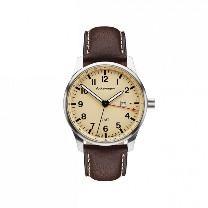 Zegarek męski VW, kremowo-brązowy