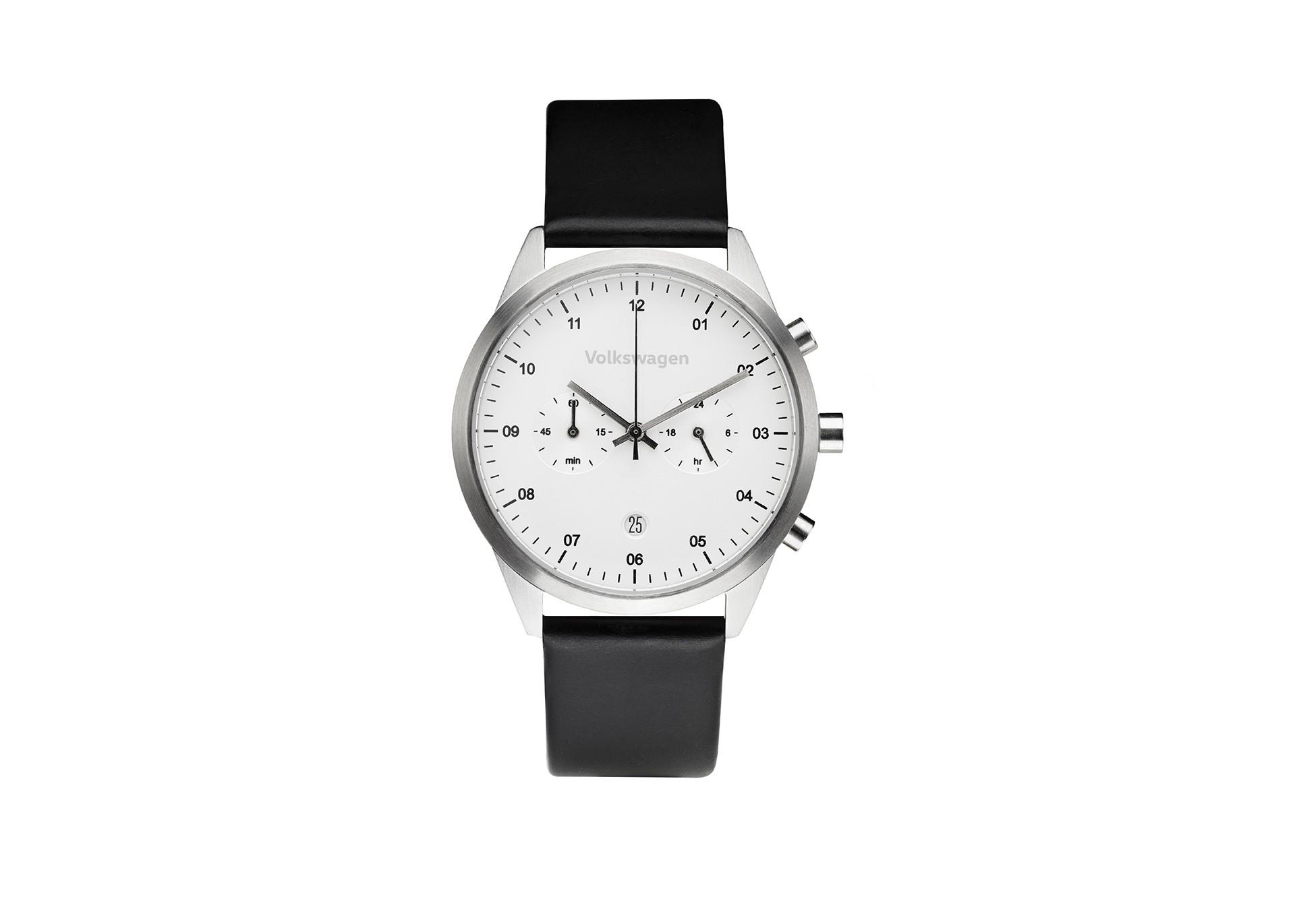 Zegarek chronograf VW, biały unisex