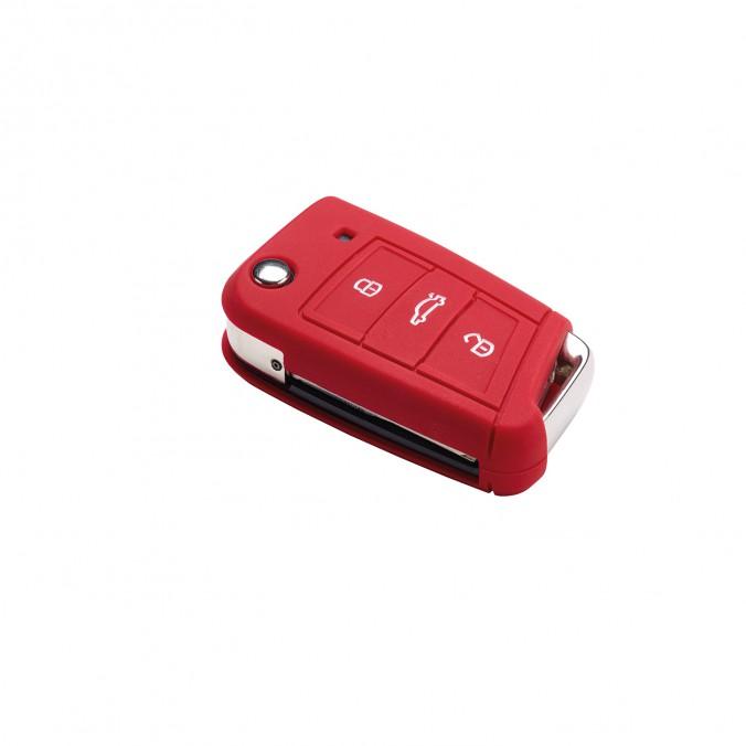 Etui na kluczyk z 3-przyciskami, Golf7 MQB, czerwone