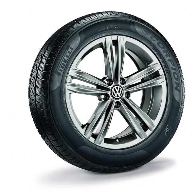 """Koło zimowe Tiguan Sebring 18"""" z oponą Pirelli, lewe"""