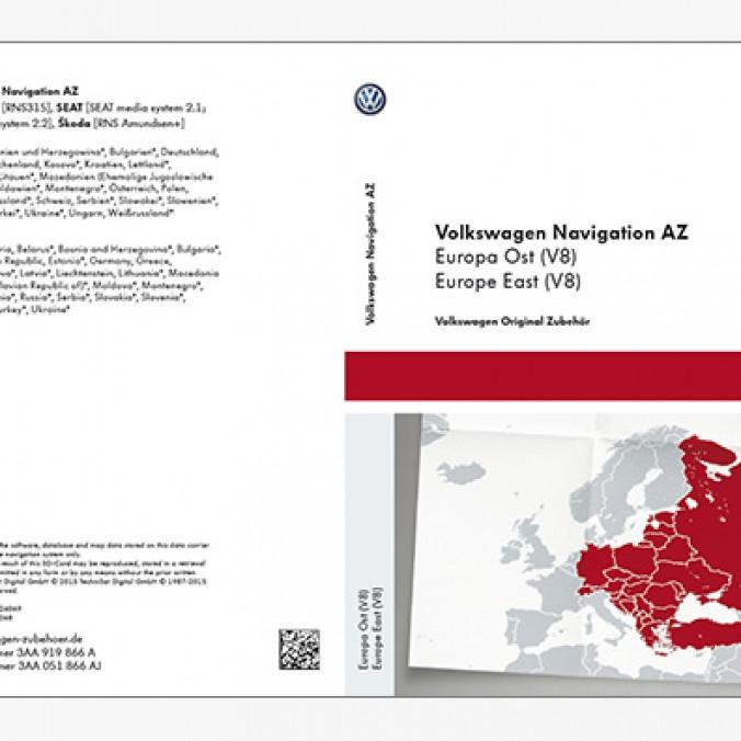 Karta SD z mapami nawigacyjnymi krajów Europy Wsch V8 do RNS 315