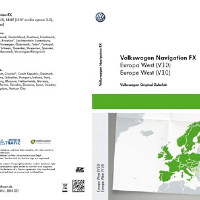 Karta SD z mapami nawigacyjnymi krajów Europy Zach. V10 do RNS 310
